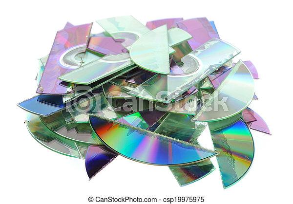 Zerstörte CDs - csp19975975