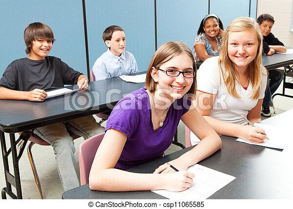 zes, geitjes, schoolklas - csp11065585