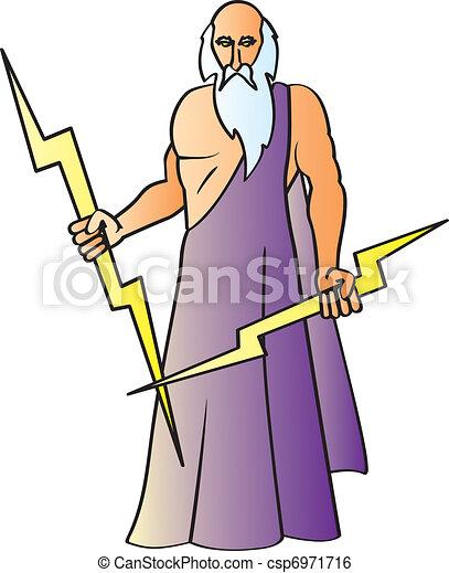 a cartoon drawing of the greek god zeus also known as the clip rh canstockphoto com zeus clipart free zeus greek god clipart