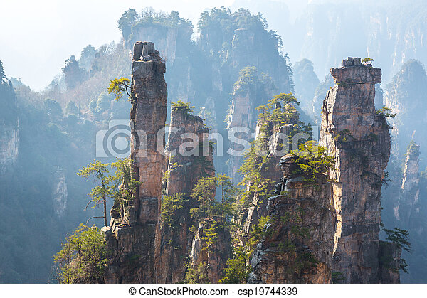 Zhangjiajie National forest park - csp19744339