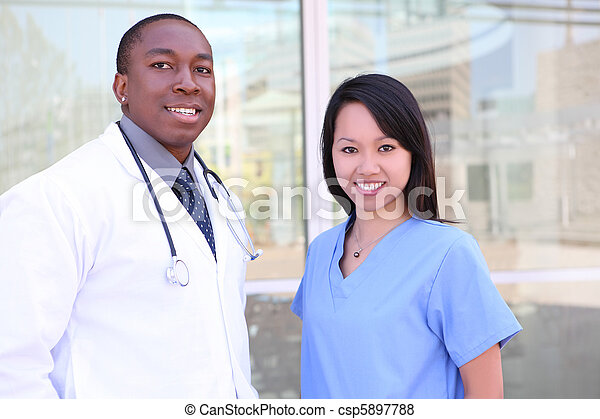 ziekenhuis, anders, medisch team - csp5897788