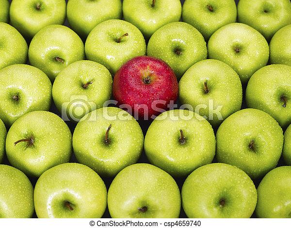 zielone jabłka, czerwony - csp4659740
