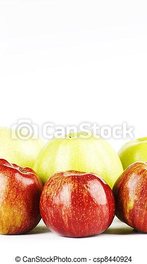 zielone jabłka, czerwony - csp8440924