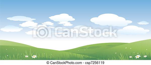zielony krajobraz, natura - csp7256119