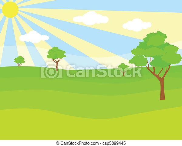 zielony krajobraz - csp5899445