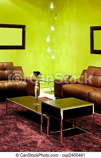 zielony, szczegół, żyjący - csp2405461