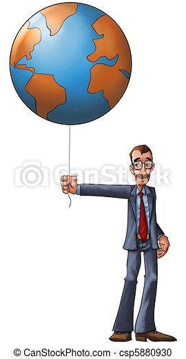ziemia, balloon, mój - csp5880930