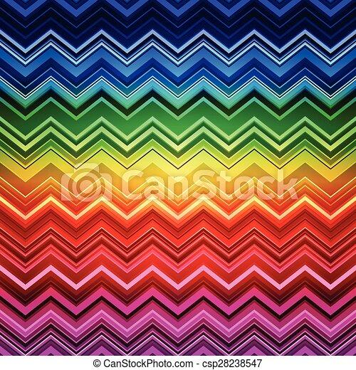 zig-zag, arco íris, backgroun, padrão, abstratos, listras, deformado, étnico - csp28238547