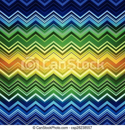 zig-zag, azul, abstratos, listras, amarela, pa, verde, étnico, deformado - csp28238557