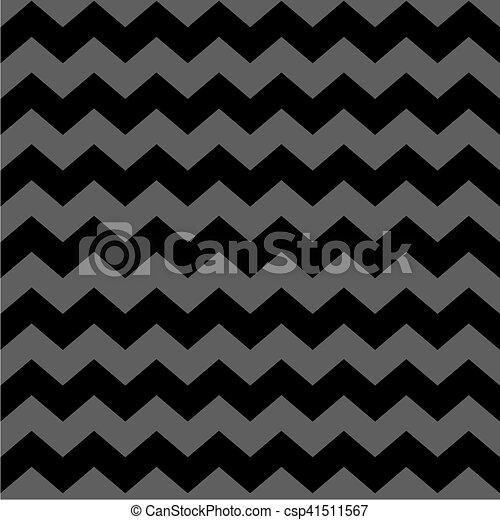 Zig Zag Chevron Black And Grey Tile Vector Pattern