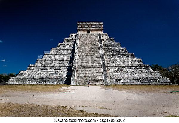 Ziggurat (pyramid) at Chichen Itza  - csp17936862