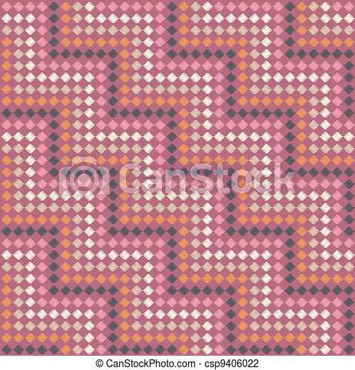 Zigzag pattern in steps - color scarf - csp9406022
