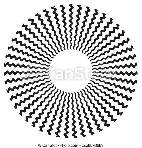 Zigzag Spiral Design Pattern - csp8898683