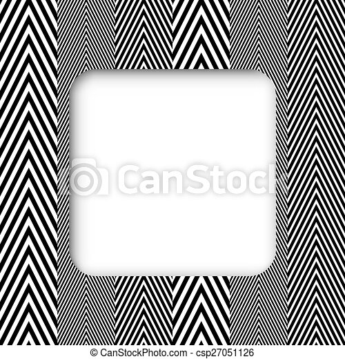 Zigzag vector frame banner
