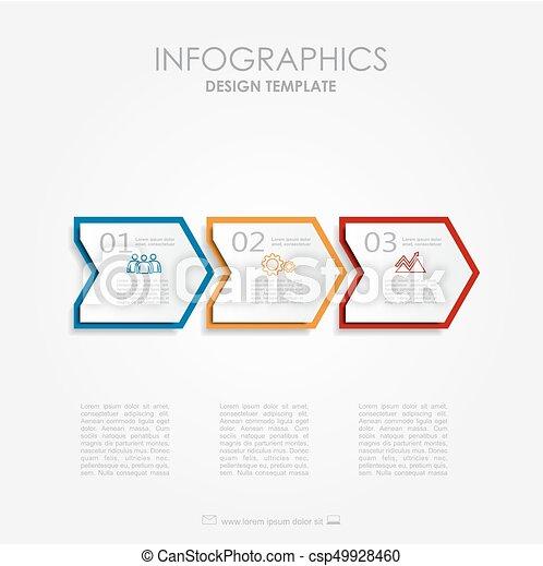 zijn, gebruikt, spandoek, zakelijk, workflow, opties, opmaak, diagram, stap, infographic, web, design., template., groenteblik - csp49928460