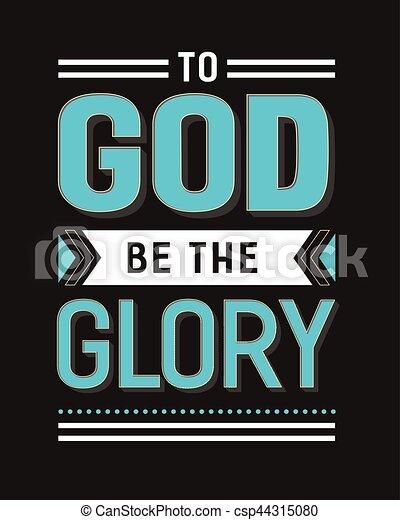 zijn, glorie, god - csp44315080