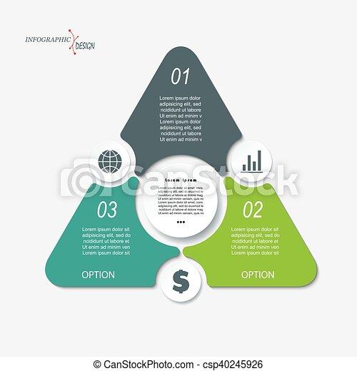 zijn, grafisch, concept, driehoek, zakelijk, web, segments., workflow, opmaak, gebruikt, diagram, of, presentatie, 3, infographic, ontwerp, getallen, mal, opties, ontwerp, groenteblik - csp40245926