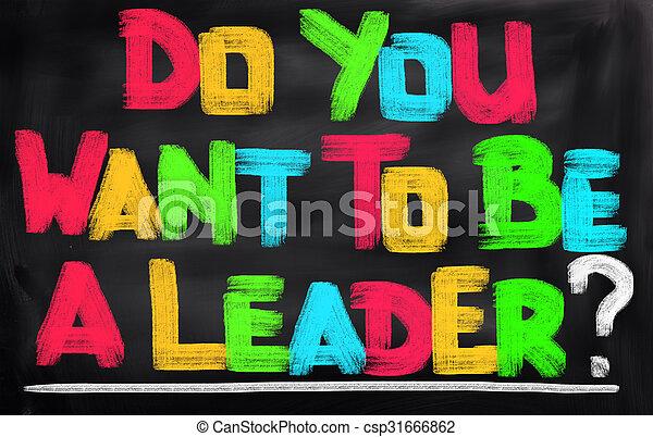 zijn, u, concept, leider, willen - csp31666862