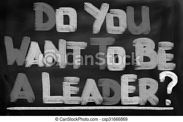 zijn, u, concept, leider, willen - csp31666869
