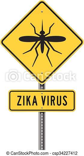 Zika Virus Roadsign - csp34227412