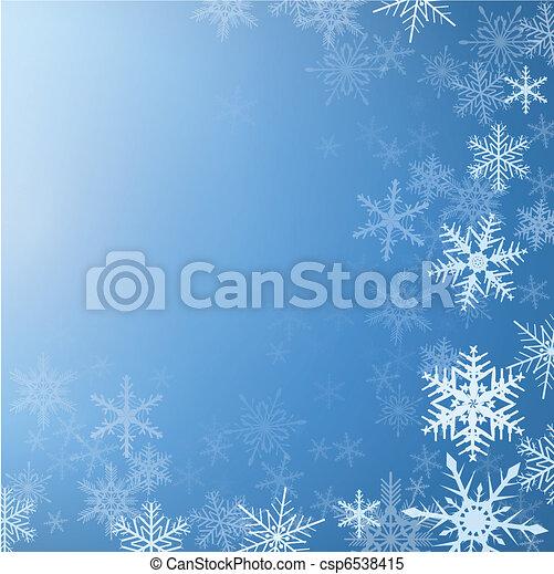 zima, tło - csp6538415