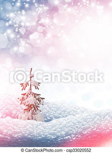 zima, tło - csp33020552