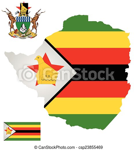 Zimbabwe Flag Flag And National Coat Of Arms Of The