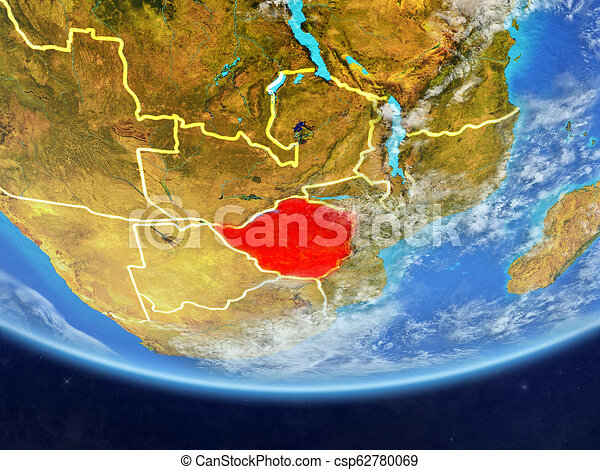 Zimbabwe from space on Earth - csp62780069