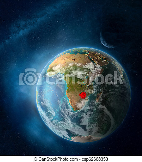 Zimbabwe from space on planet Earth - csp62668353