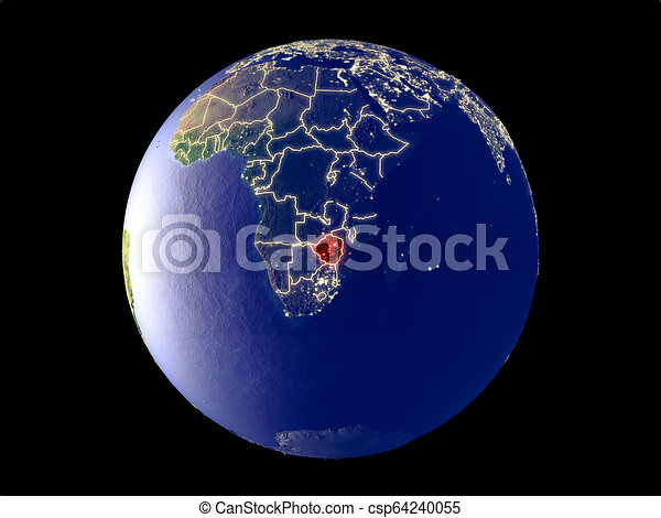 Zimbabwe on Earth from space - csp64240055