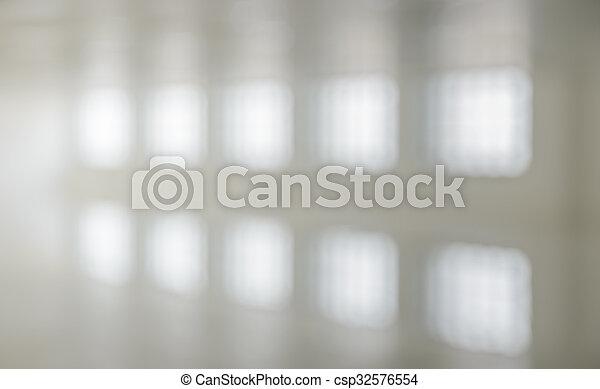 zimmer, abstrakt, hintergrund, verwischen, weißes, bild - csp32576554