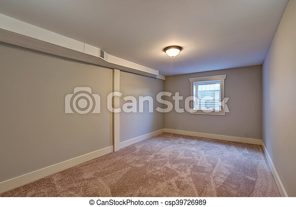 Zimmer Boden Fenster Beige Klein Leerer Teppich Zimmer Usa