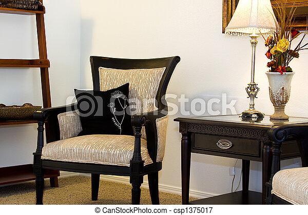 Zimmer Familie Stehen Nacht Stuhl Lesende Haus Auf