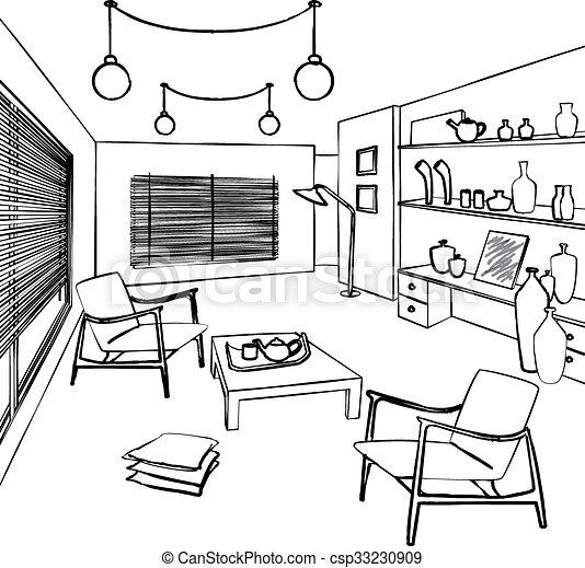 zimmer g ste einfache inneneinrichtung skizze g ste vektor clipart suche. Black Bedroom Furniture Sets. Home Design Ideas