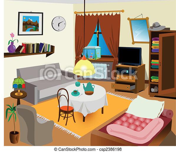 Schlafzimmer Illustrationen und Clip-Art. 26.066 Schlafzimmer ...
