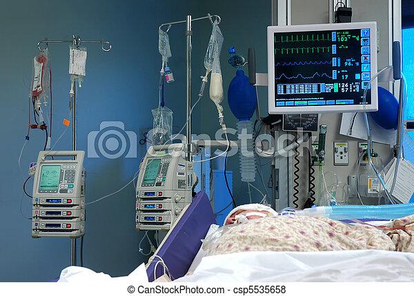zimmer, intensivpflegestation - csp5535658