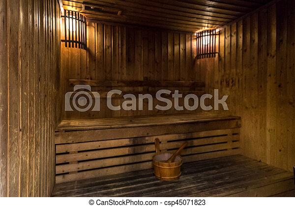 Zimmer, sauna. Spa, sauna, behandlung, zimmer Stockfoto - Bilder und ...