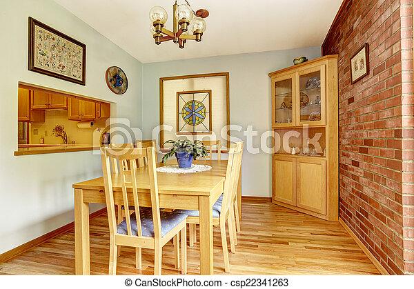 Zimmer, Wand, Kabinett, Essen, Ecke, Mauerstein Stockfoto