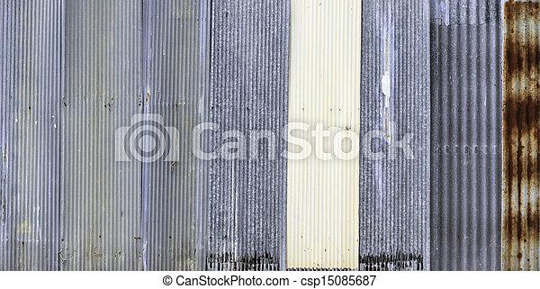 """Zinc"" old rusty metal wall background - csp15085687"