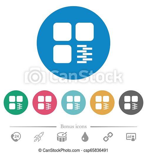 Zip component flat round icons - csp65836491