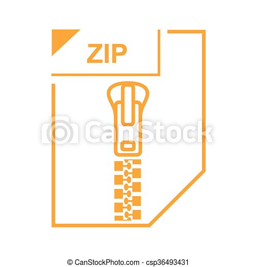 ZIP file icon, cartoon style - csp36493431