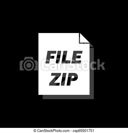 ZIP file icon flat - csp65501751