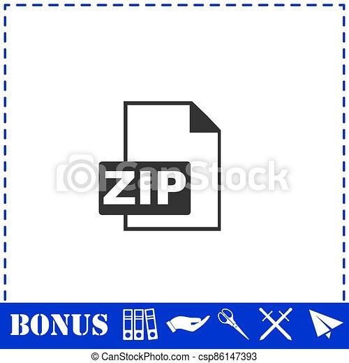 ZIP file icon flat - csp86147393