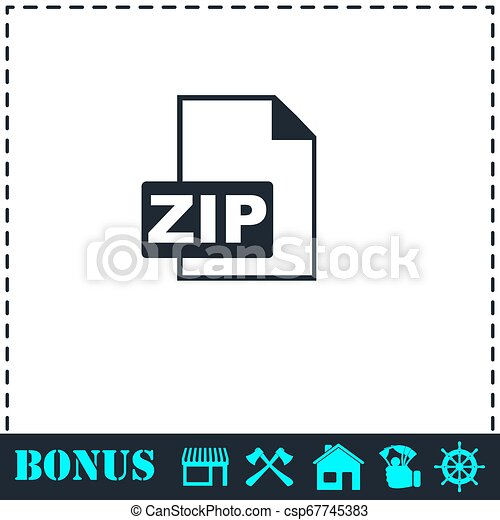 ZIP file icon flat - csp67745383