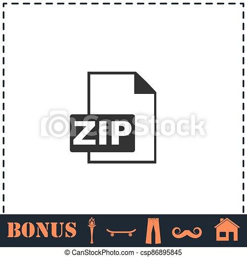 ZIP file icon flat - csp86895845