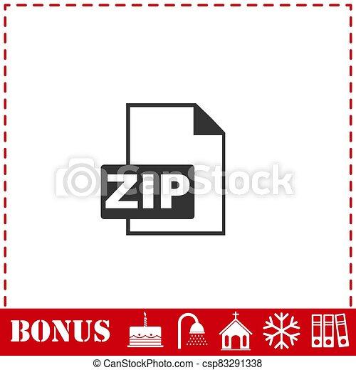 ZIP file icon flat - csp83291338
