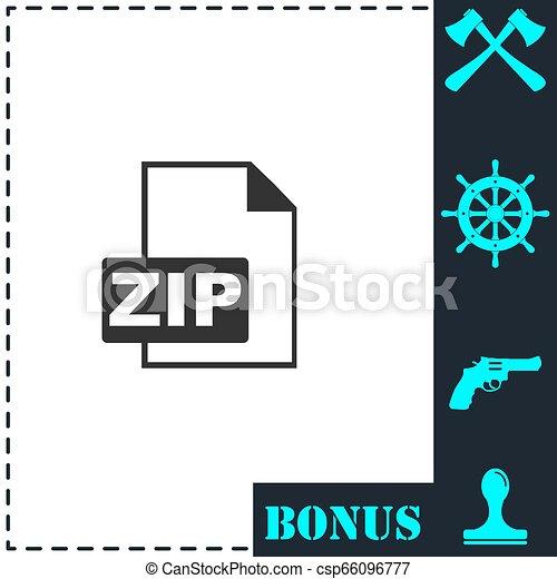 ZIP file icon flat - csp66096777