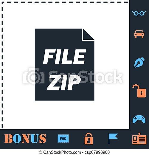 ZIP file icon flat - csp67998900