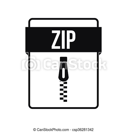 ZIP file icon, simple style - csp36281342
