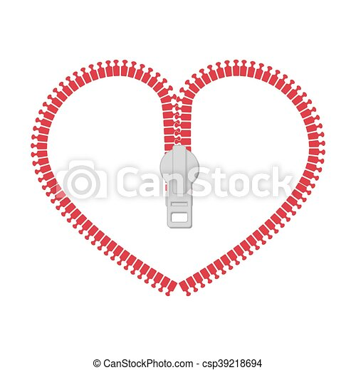 Zip zipper heart love heart vector graphic icon. Zip heart ...